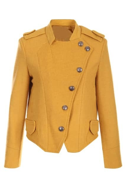 Ginger Short Woolen Coat