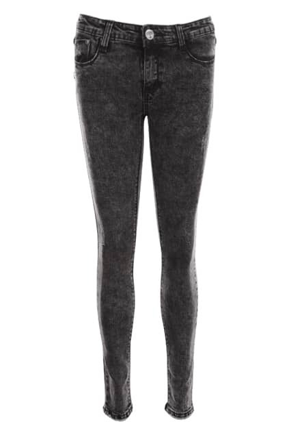 Threadbare Skinny Black Snow Jeans