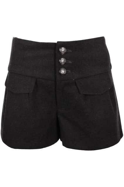 Cross Tie High Waist Dark-grey shorts