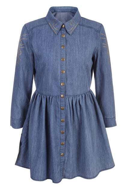 Rivet Dark Blue Skirted Blouse