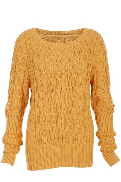Chunky Cable Knit Ginger Jumper
