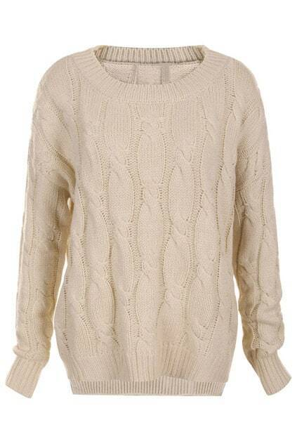 Retro Asymmetric Gentiana Cream Jumper