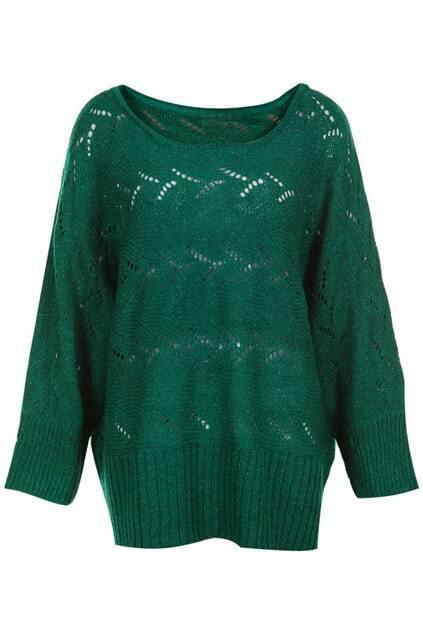 Magyar Sleeves Green Jumper