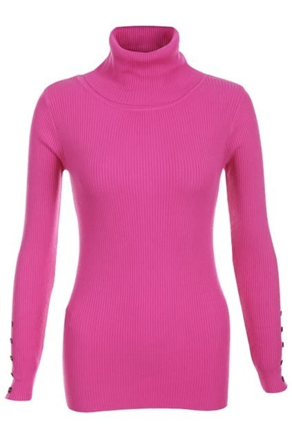High-necked Rose Jumper