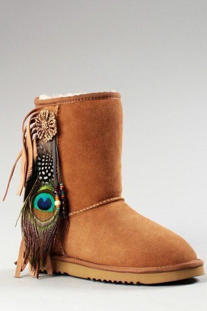 Aukoala Australia Feather Khaki Boots