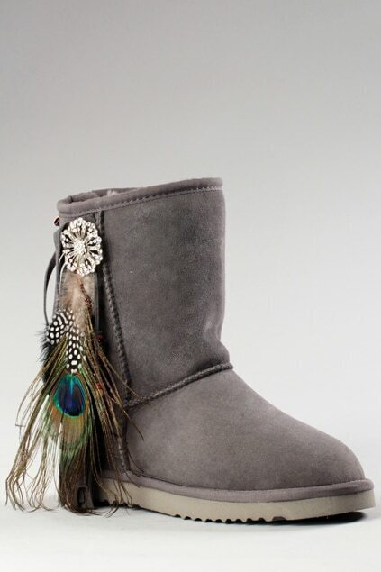 Aukoala Australia Feather Grey Boots
