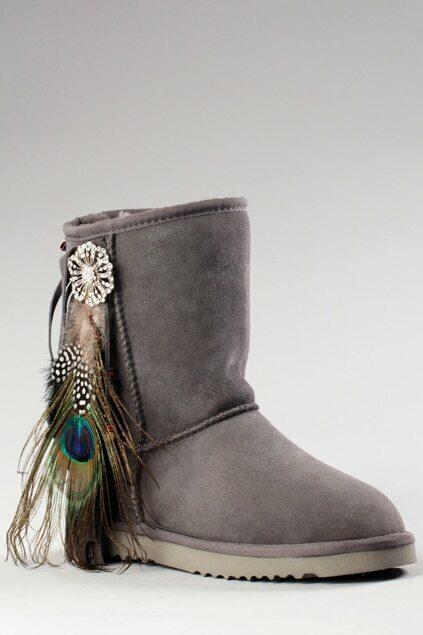 Aukoala Australia Feather Grey Boots