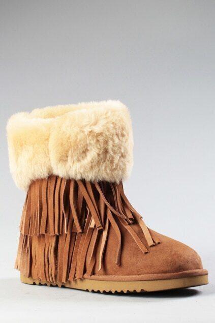 Aukoala Australia Mocha Khaki Short Boots