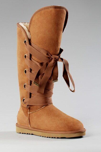 Aukoala Australia Roxy Tall Khaki Boots