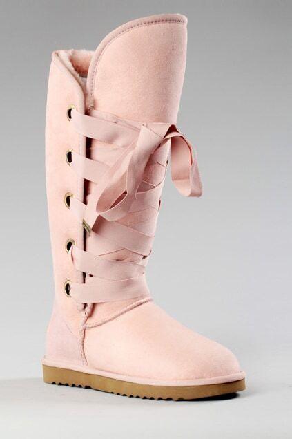 Aukoala Australia Roxy Tall Pink Boots