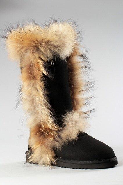 Aukoala Australia Eskimo Black Boots