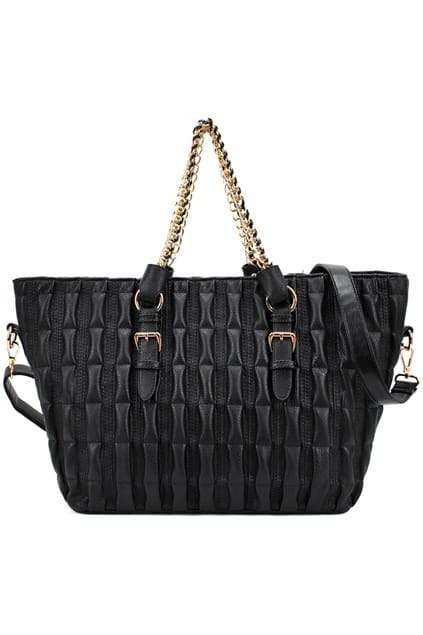 Black Bamboo Pochette Shoulder Bag