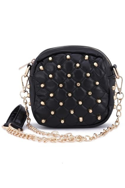 Studed Black Shoulder Bag