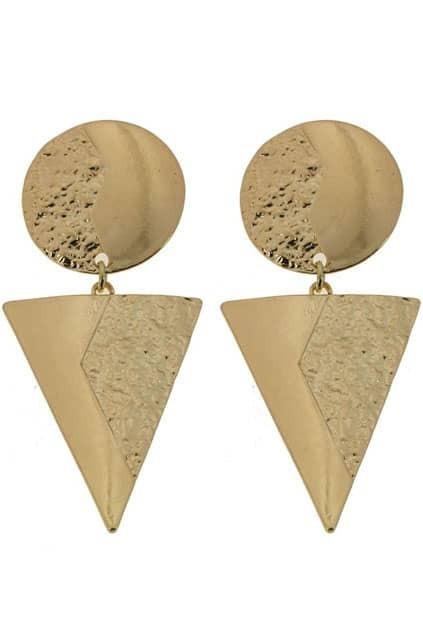 Triangle Pendant Earrings