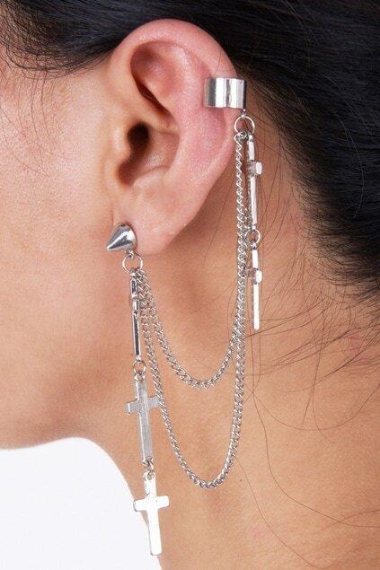Multi Cross Single Earring