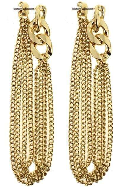 Chained Tassel Earrings