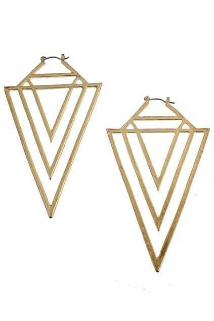 Multilayer Triangle Earring