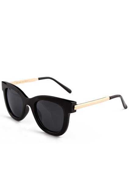 Rounded Black Sunglasses
