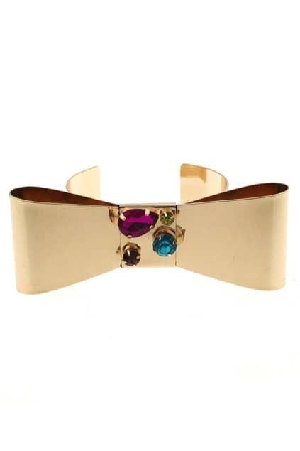 Diamante Bow Cuff Bracelet