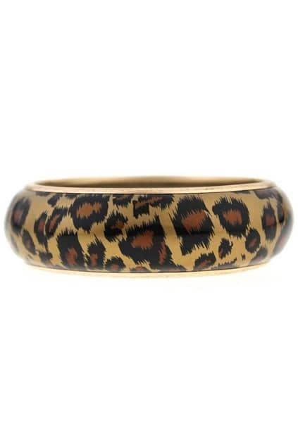 Chunky Leopard Cuff Bracelet