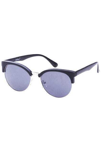 Black Half-band Sunglasses