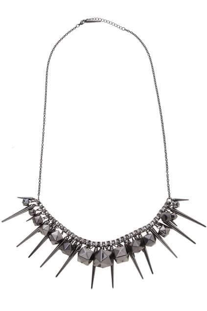 Solid Polygon Spiked Necklace