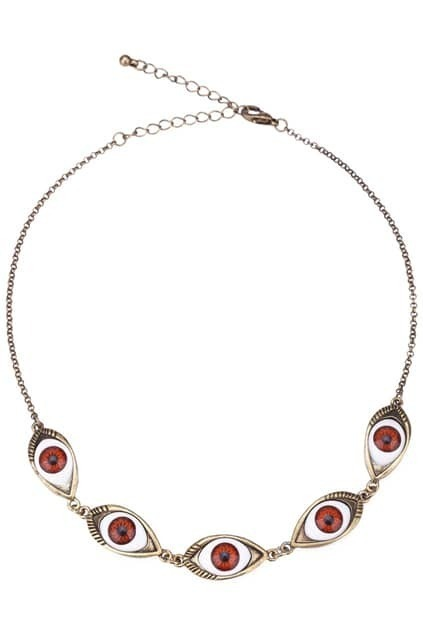 Linked Angel Eye Necklace