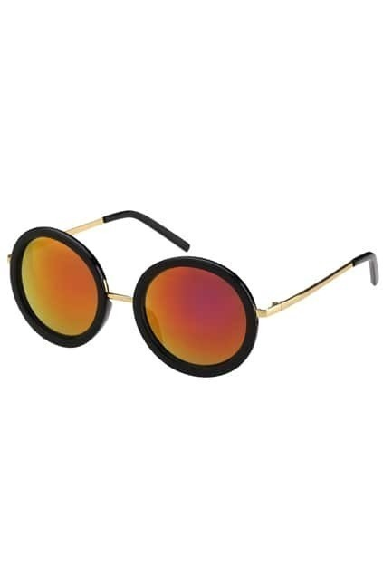 Round Red Reflective Sunglasses
