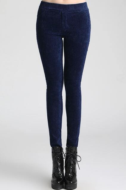 Royalblue Velvet Leggings