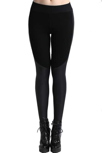 Elastic Waist Black Leggings