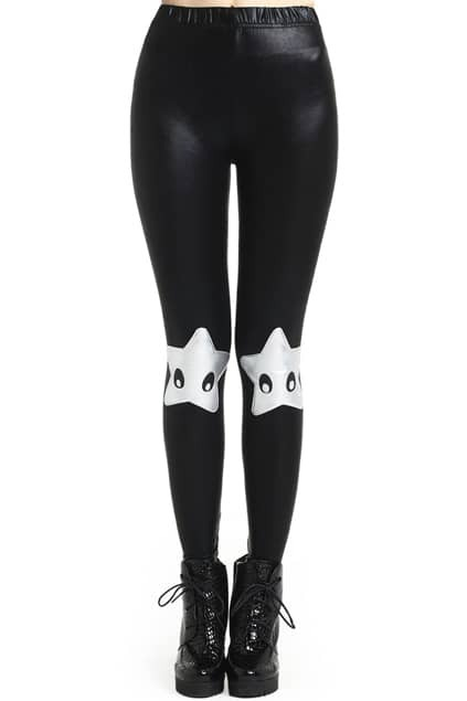 Metal-tone Starfish Leggings