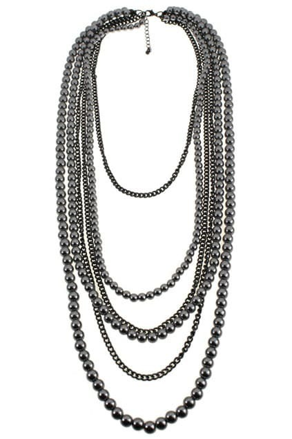 Multi Bead Chain Necklace