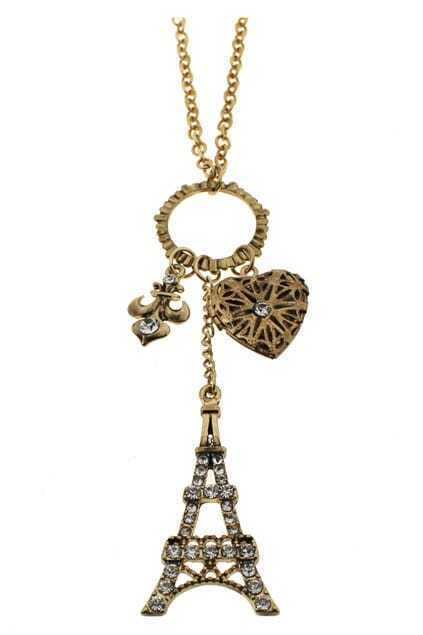 Eiffel Tower Pendant Necklace