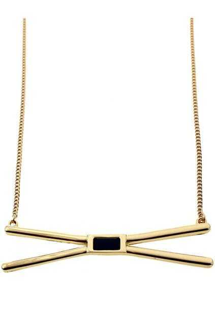 Gold Stick Pendant Necklace
