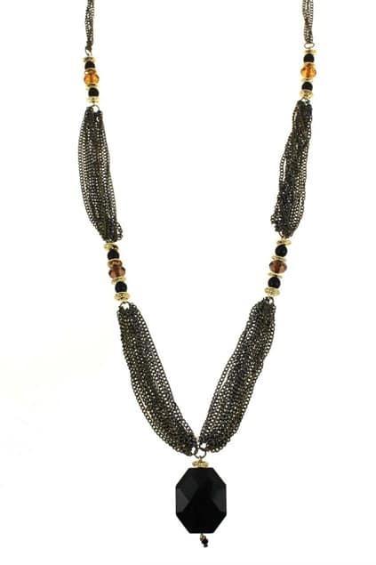 Multi Chain Jewel Necklace