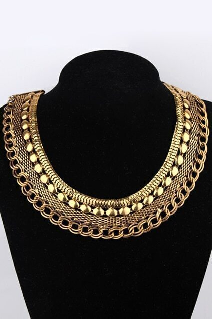 Multilayer Chains Necklace