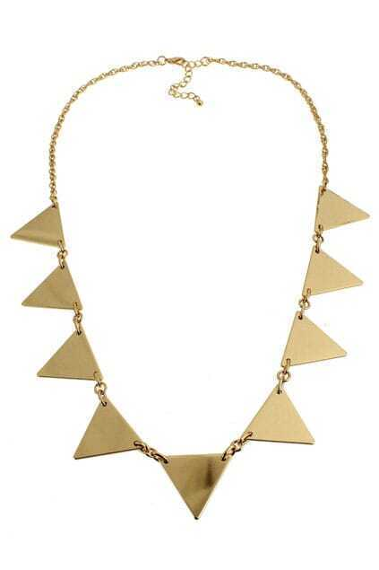 Linked Triangle Necklace