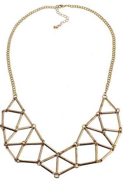 Metal Stick Dual-tone Necklace