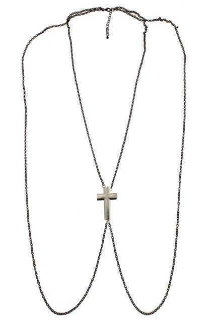 Cross Slim Chains Shoulder Necklace
