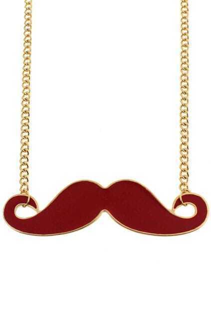 Mustache Pendant Necklace