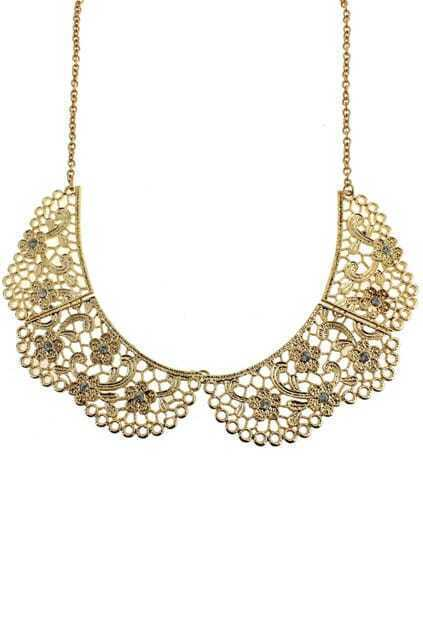 Diamante Flower Collar Necklace