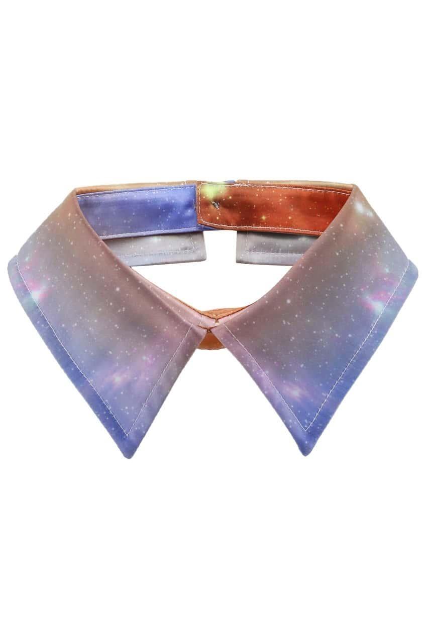 Light Galaxy Print Collar