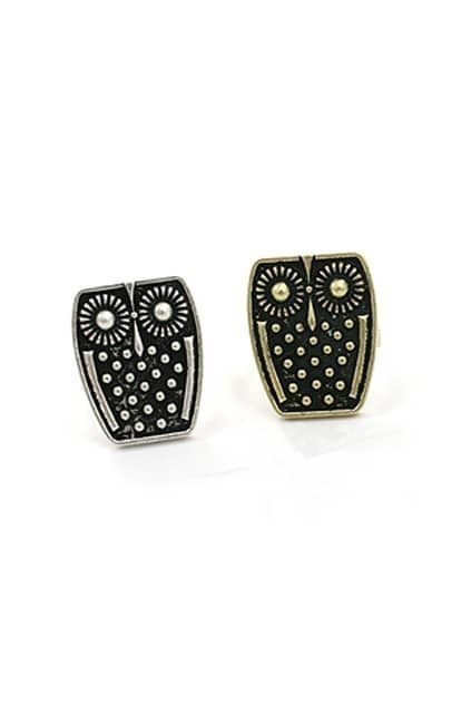 Studded Retro Owl Ring