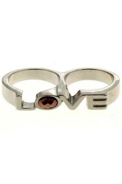 Diamante Double Ring