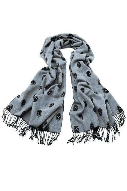 Double Piece Skull Scarf