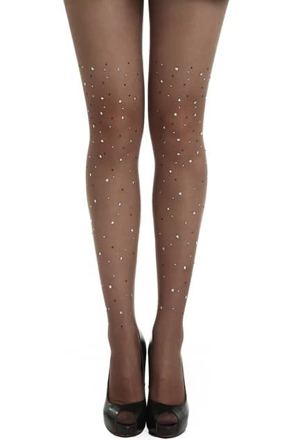 Fake Diamonds Coffee Tights