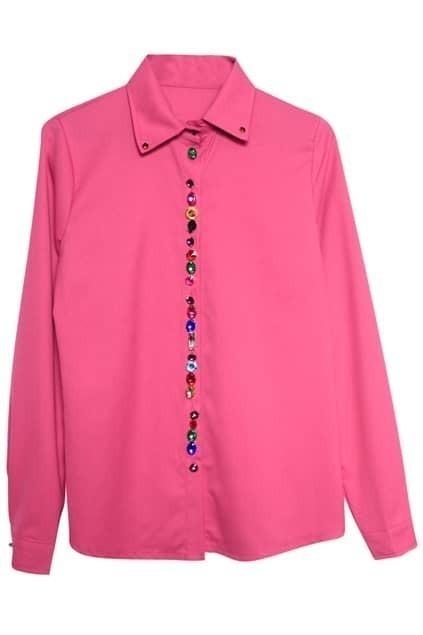 Peaked Collar Rose Shirt