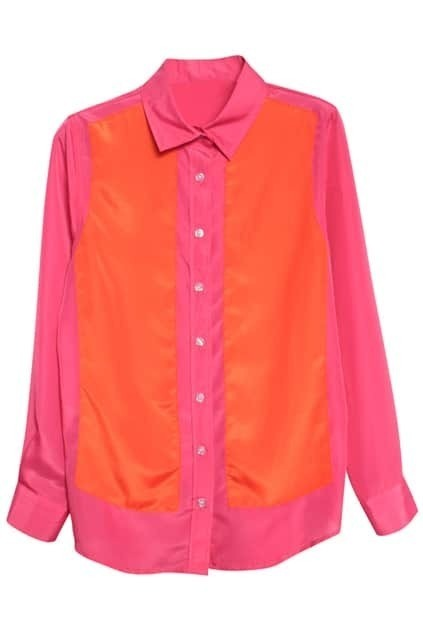 Color Block Rose Shirt