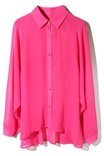 Splicing Asymmetric Rose Shirt