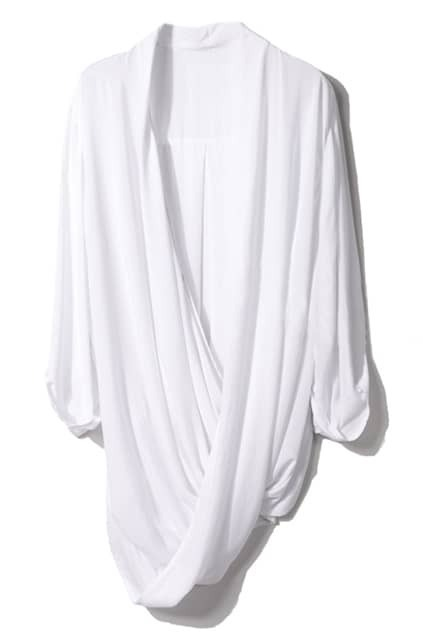 Loose Draped White Shirt